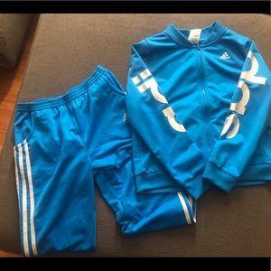 Kids  Girl Adidas Zipper Jacket and Pants xl(16)